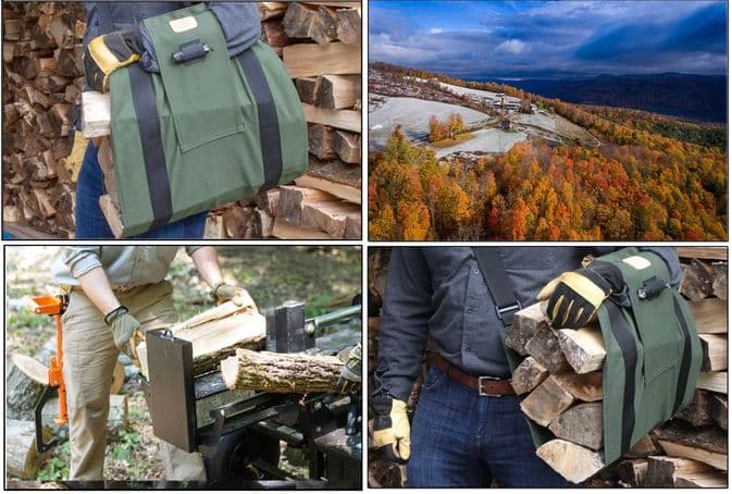 WoodOX Sling Is The Ultimate Firewood Carrier