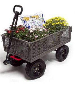 Gorilla Carts GORMP-12 Steel Dump Carts with Removable Side & two-In-one Convertible Handle, 1,200-Pound Capacity