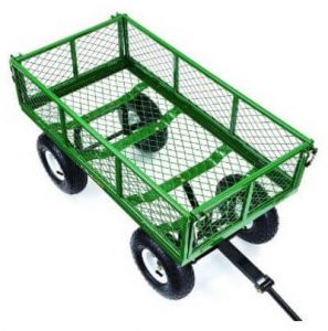 Gorilla Carts Steel Garden Carts with Removable Sides with Capacity of 400 pound