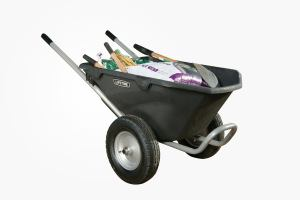 best two wheel wheelbarrow: lifetime wheelbarrow