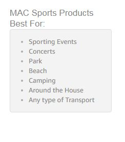 mac sports wagon accesories